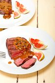 foto of ou  - beef filet mignon with green peppercorn creamy sauce ou poivre vert - JPG