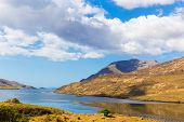 stock photo of galway  - Mweelrea in Killary Harbour in County Galway in Connacht - JPG