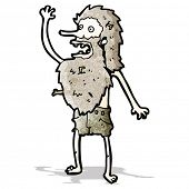 picture of hermit  - cartoon ship wrecked hermit man - JPG