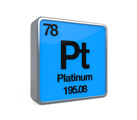 picture of periodic table elements  - Platinum Element Periodic Table isolated on white background - JPG