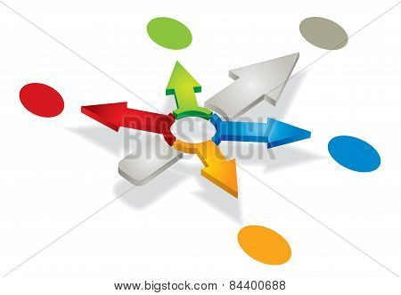 Abstract Illustration With Arrows