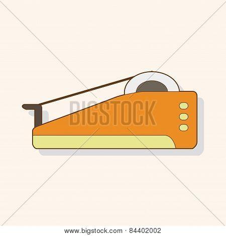 Stationary Tape Dispenser Theme Elements Vector,eps