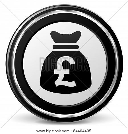 Pound Sterling Icon With Metal Ring