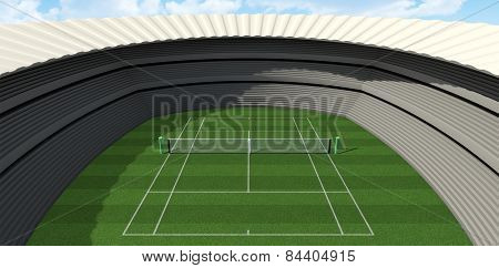 Lawn Tennis Court In The Day