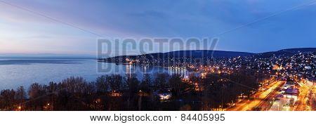 Sunrise By Balaton Lake