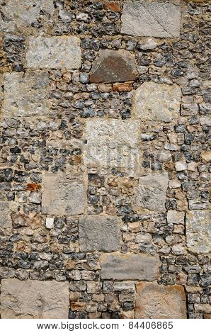 France, Detail Of A Wall In Lyons La Foret