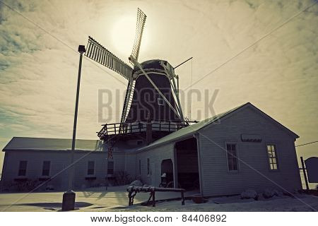 Windmill In Golden, Illinois
