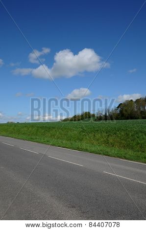 France, A Country Road In Brueil En Vexin