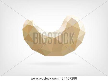 Low Poly Cashew nut