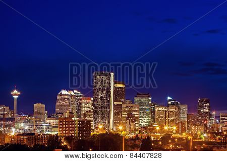 Evening Panorama Of Calgary