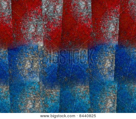 Red And Blue Lapis Lazuli Block Grunge Background