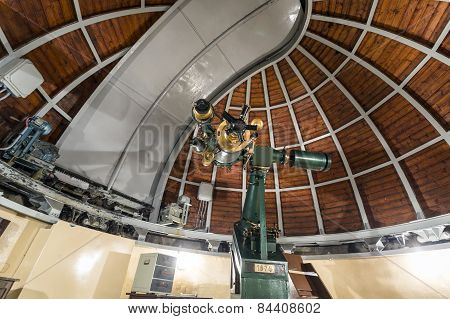 Astronomy Telescope In An Astronomical Observatory