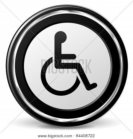 Disabled Icon With Metal Ring