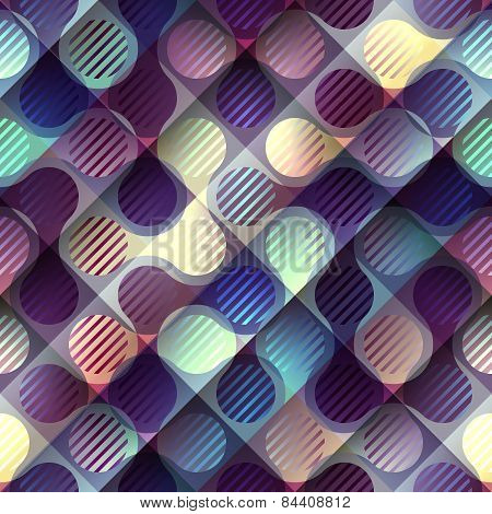 Abstract geometric purple pattern with joined elements.