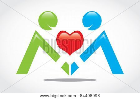 Vector Icon Heart People Health