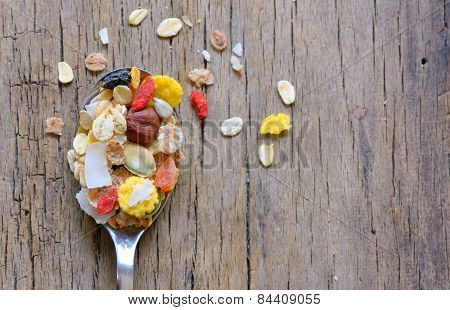 Cereals On A Spoon