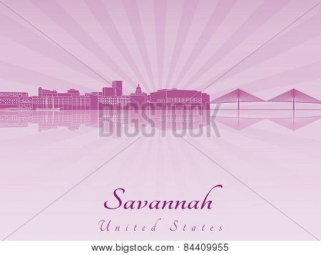 Savannah Skyline In Purple Radiant Orchid
