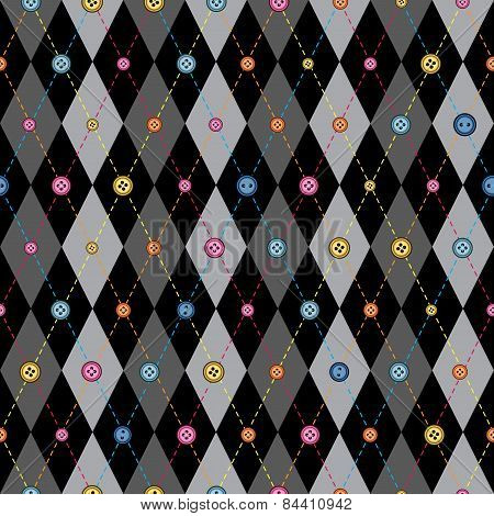 Classic argyle pattern in patchwork style.
