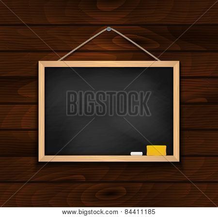 Chalkboard On Wood Background