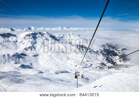 Funicular at French Alps