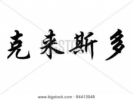 English Name Christo In Chinese Calligraphy Characters