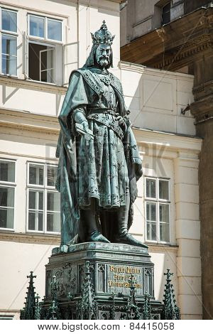 Charles Iv Statue In Prague