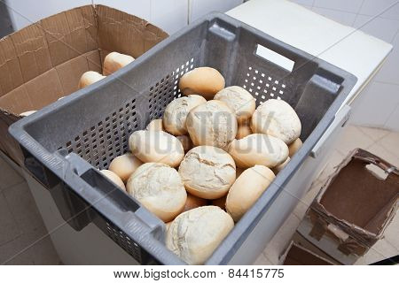 Box Of Fresh Baked Bread Rolls