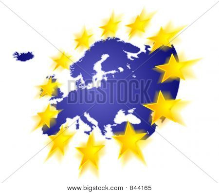 Europe with stars