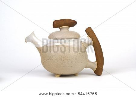 Handmate Tea Pot Kettle Isolated On White