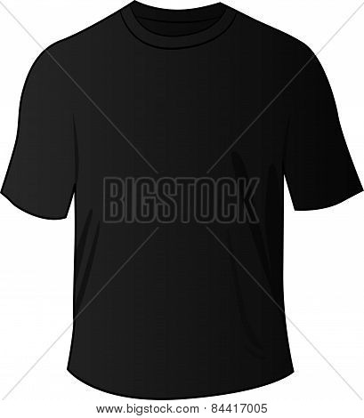 Black Front Tee Shirt