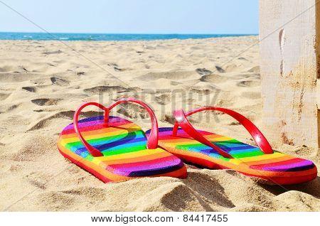 Beach Sandals - Stock Image