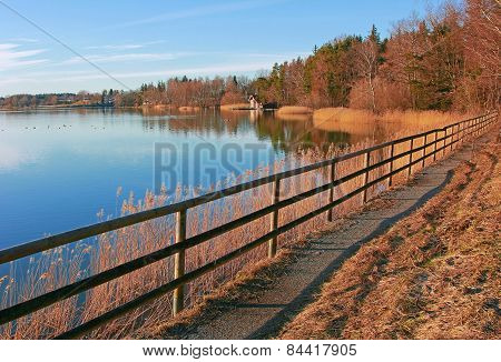 Pictorial Lake Seehamer See, Germany