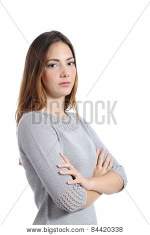 Portrait Of An Angry Serious Woman