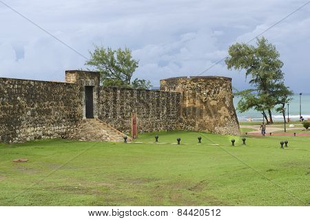 Exterior of the San Felipe Fort in Puerto Plata, Dominican Republic.