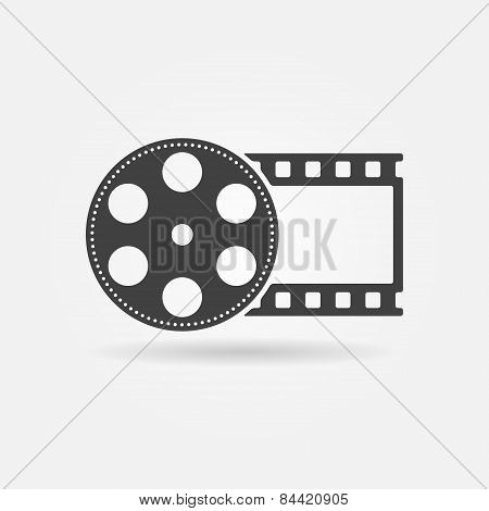 Black film roll logo or icon