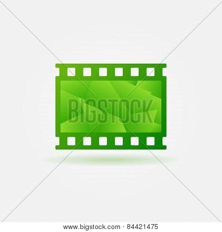 Cinema filmstrip logo template