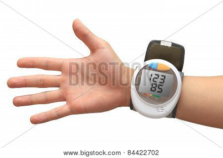 Digital Blood Pressure Monitor With Values