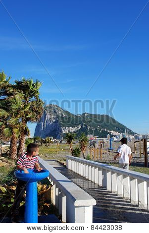 The Rock of Gibraltar.