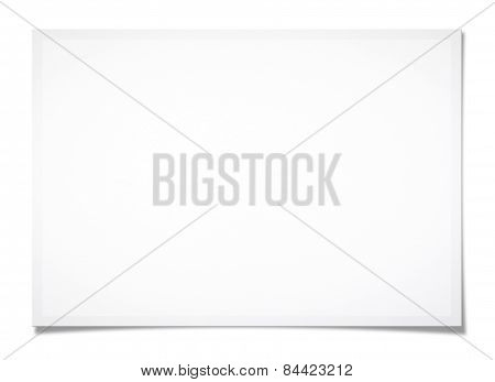 Textured Blank Paper (clipping Path)
