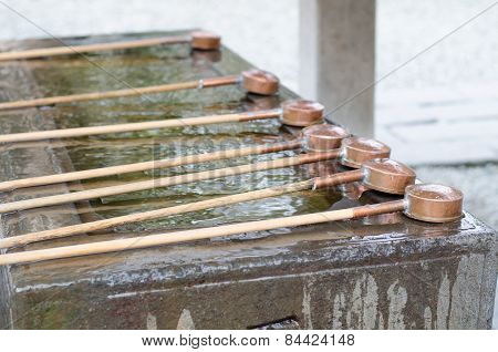 Water Dippers At Kotokuin Temple