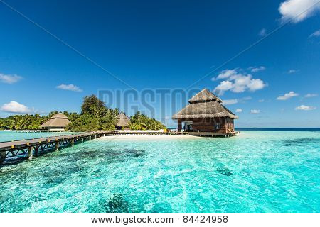 Beach Villas On Small Tropical Island