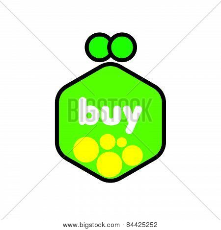 Vector Icon Green Purse With Coins