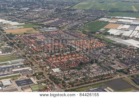 Aerial View Of The Residential Area At Amsterdam