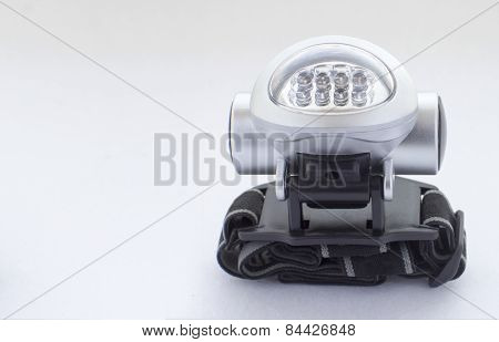 Eight Led Head-mounted Flashlight With Ribbon