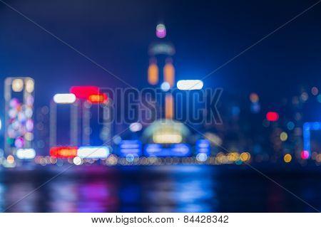 Hong Kong night lights after sunset