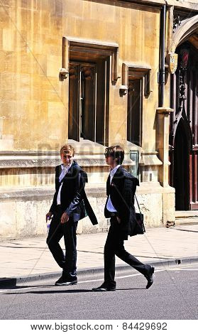 Students, Oxford.