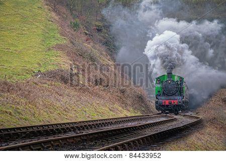 Steam train smoking