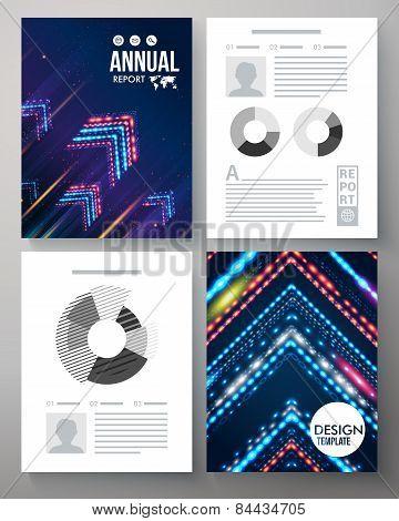 Artistic annual report vector template