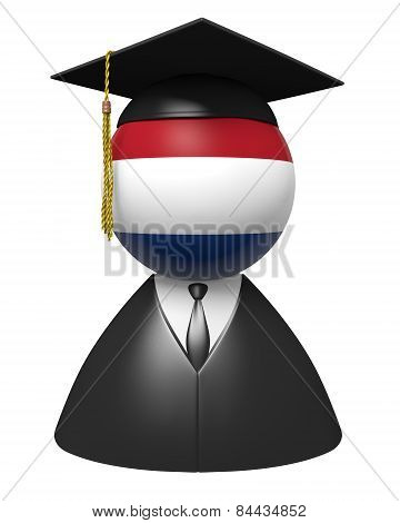Netherlands college graduate concept for schools and academic education