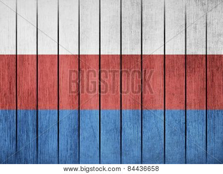 Wooden Flag Of Russia
